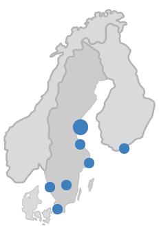 Kartta toimipaikoista