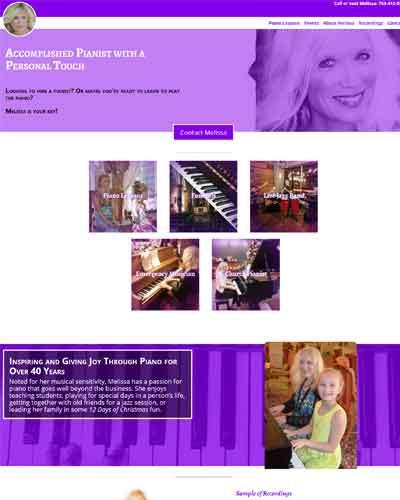 web design for musician