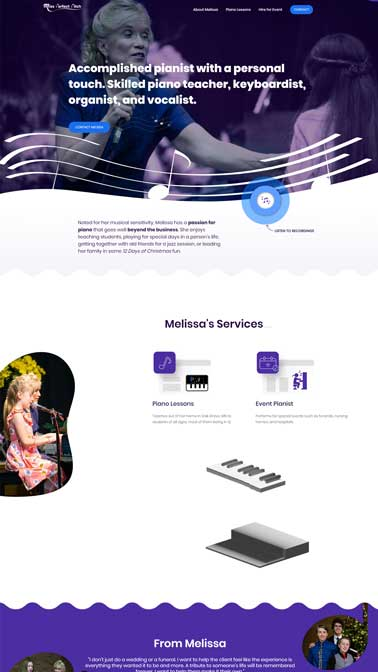 musician website design