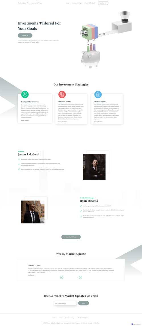 financial company web design