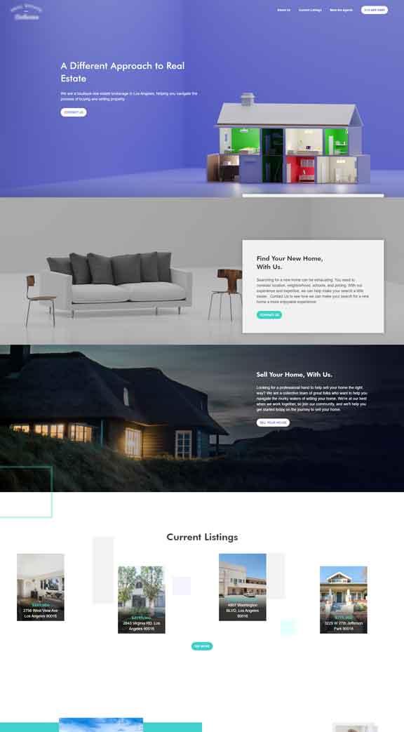 real estate company web design