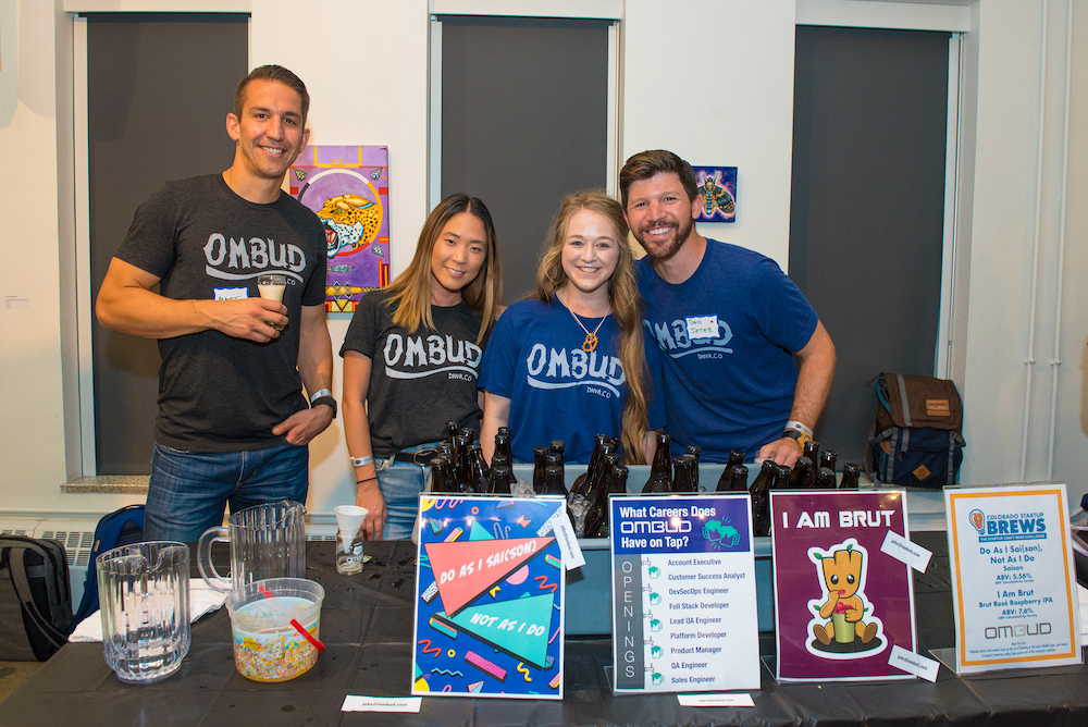 Nina and other Ombuddies at Colorado Startup Brews