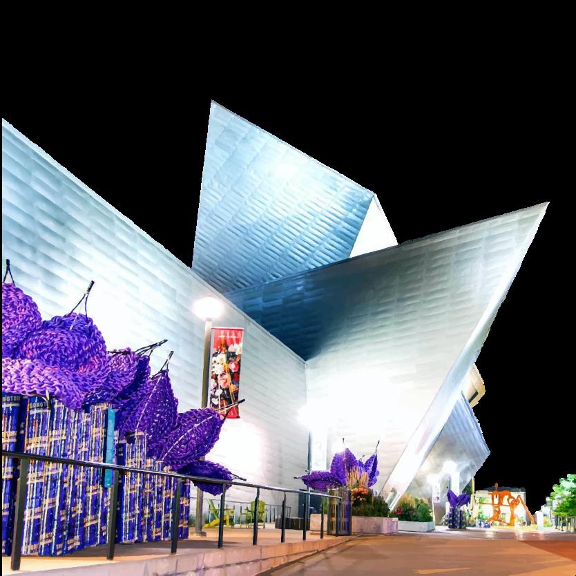 Denver Art museum's unique building symbolizing innovation
