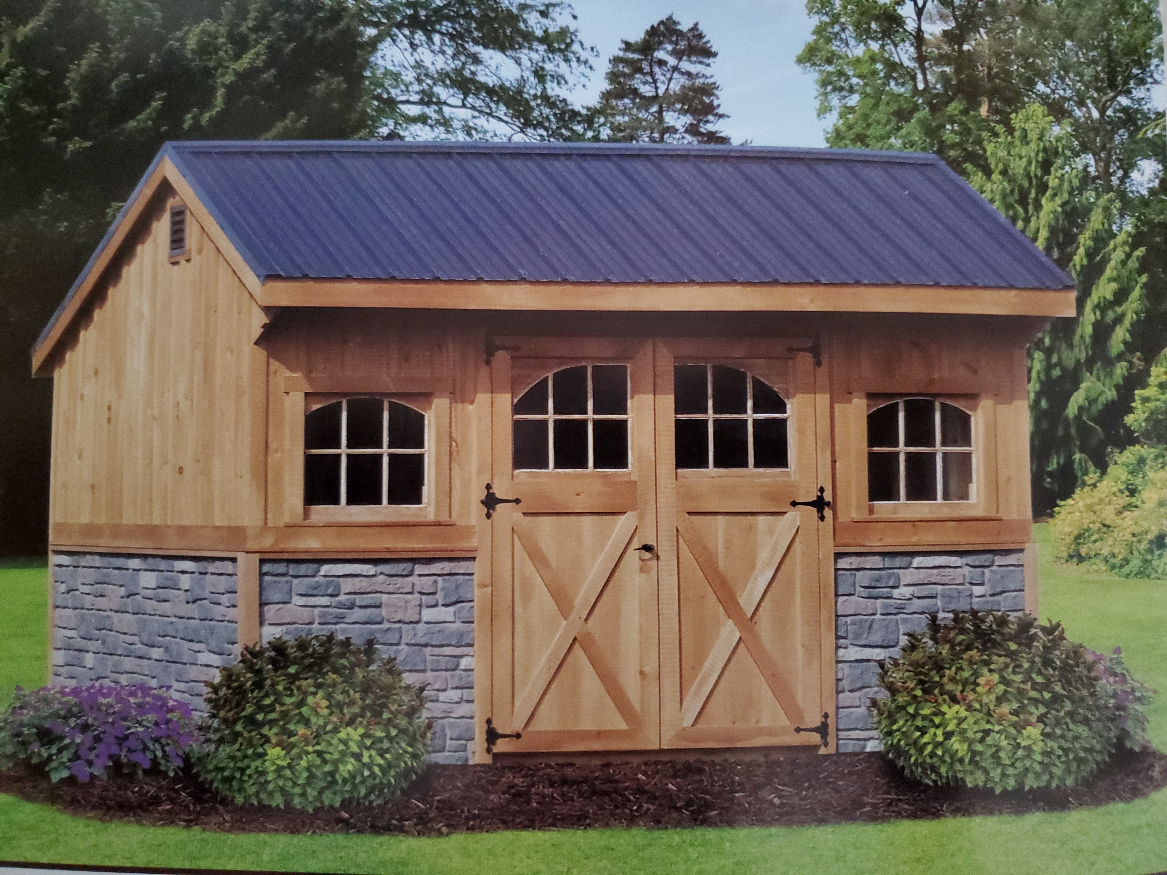 Example of an Amish Quaker shed structure from This n' That