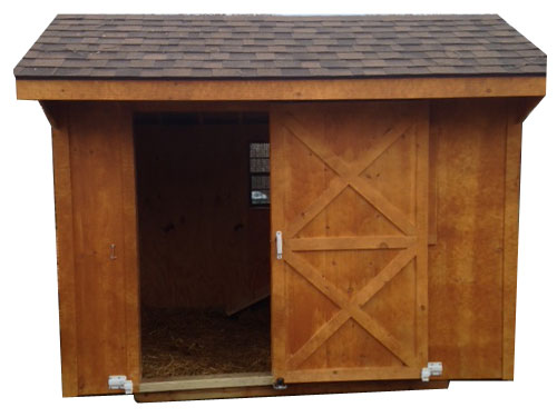 Goat house interior and exterior examples
