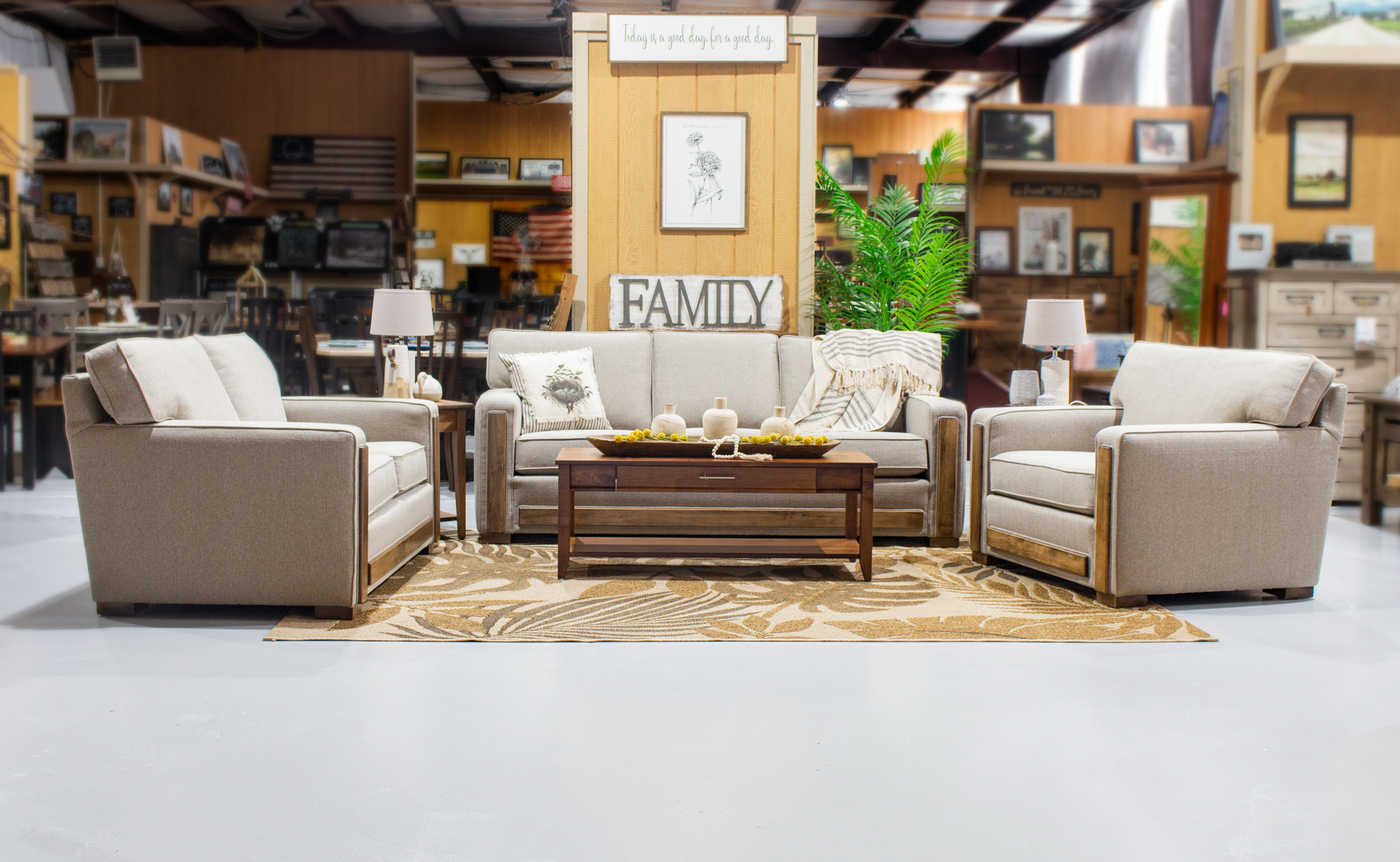 New Collection! Authentic Amish Upholstered Furniture