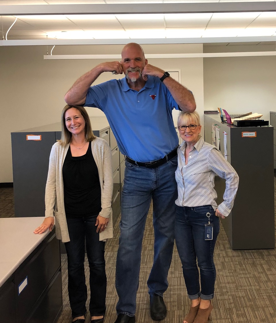 It's Bound to be a good day when Bill Wennington shows up at your office!