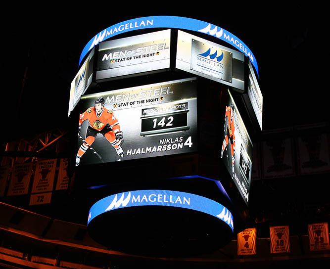"""Chicago Blackhawks """"Men of Steel"""" segment at the United Center"""