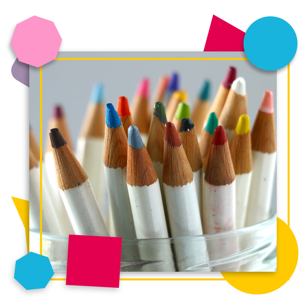 Atelier - Pot de crayons de couleur