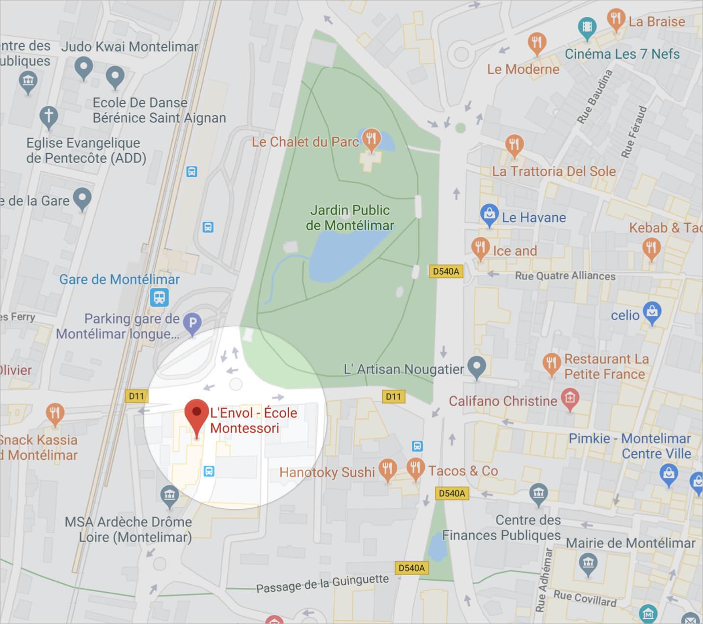 Plan de L'Envol - École Montessori