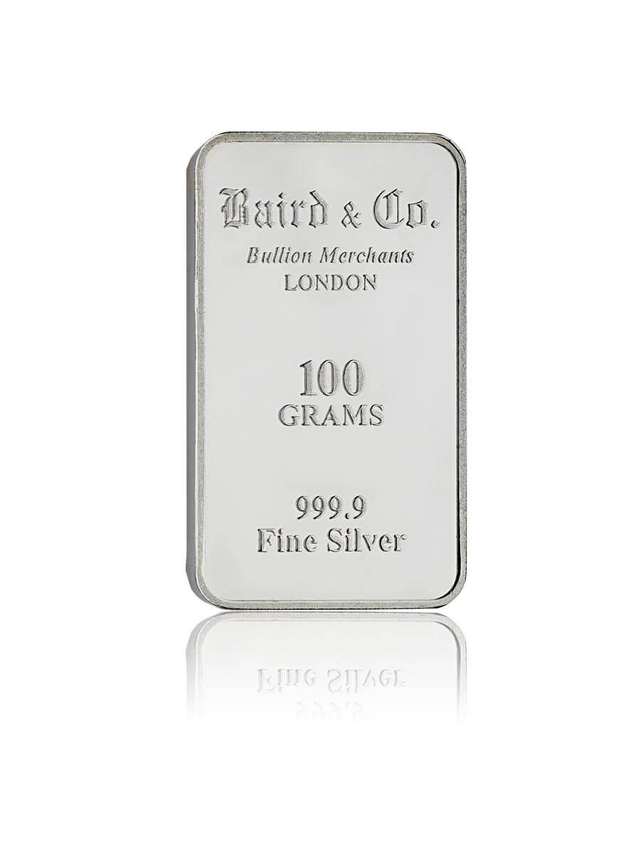 Baird&Co. Feinsilber-Bullion 100g