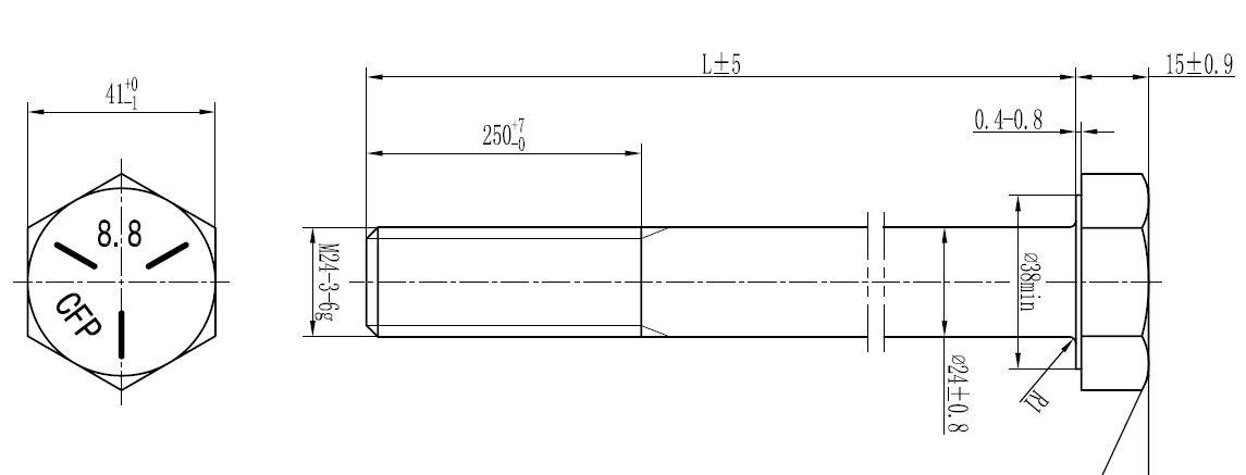 AS1252 M24 LONG Structural Bolt Sets