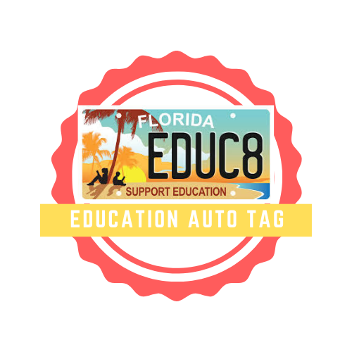 Education auto tag logo