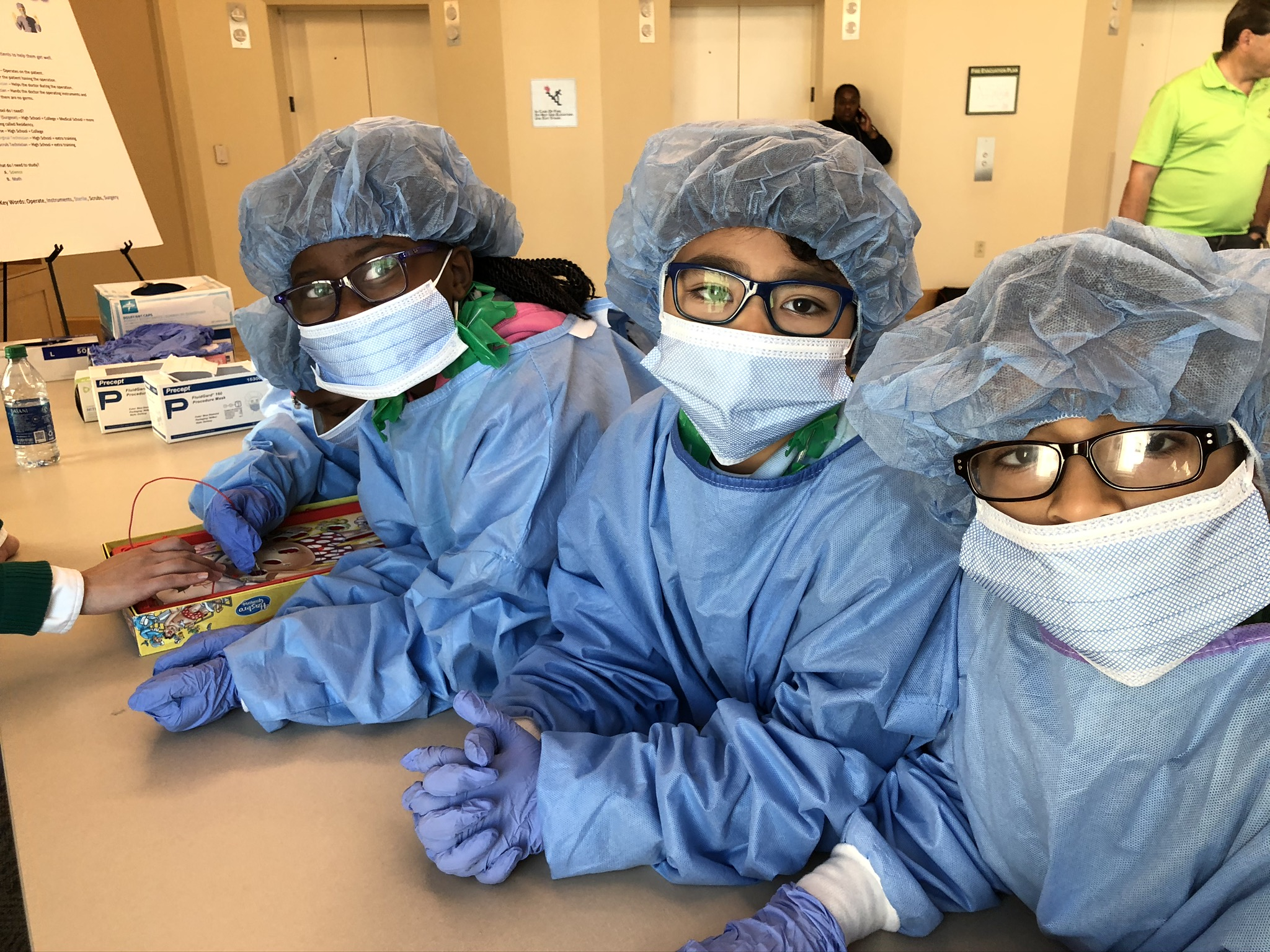 Photo of students from a medical pipeline field trip.