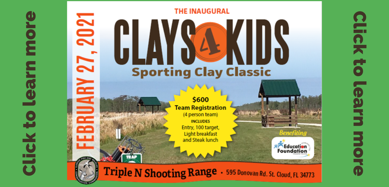Flyers a fundraising event called Clays for Kids