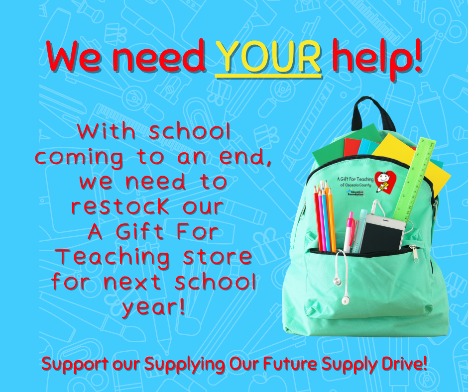 Infographic encouraging supporting our supply drive