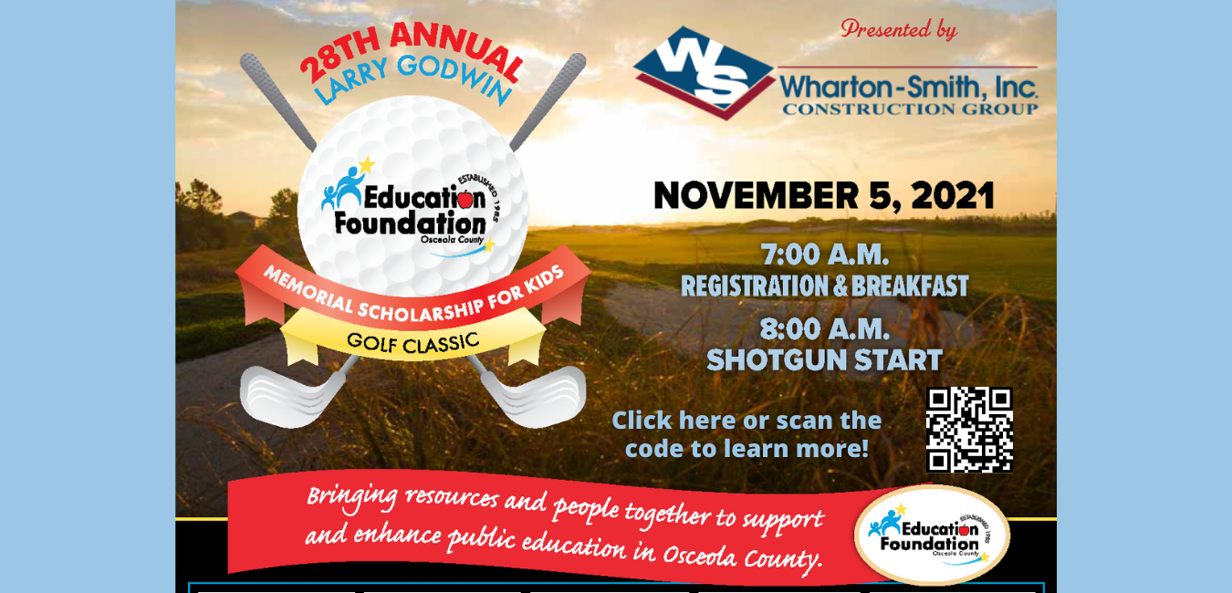 Flyer for our annual golf tournament that takes place November 5th.