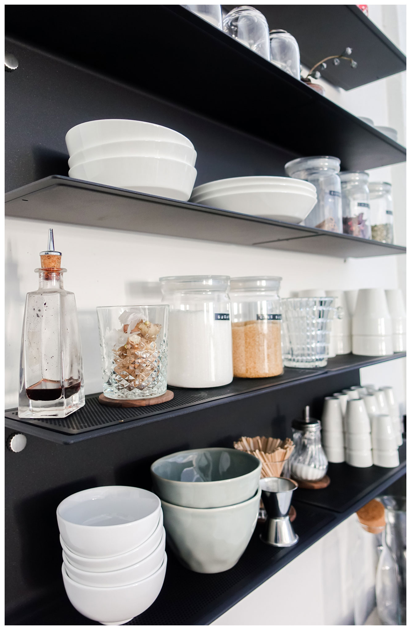 Vipp shelf with Atelier Pfister plates and decorations