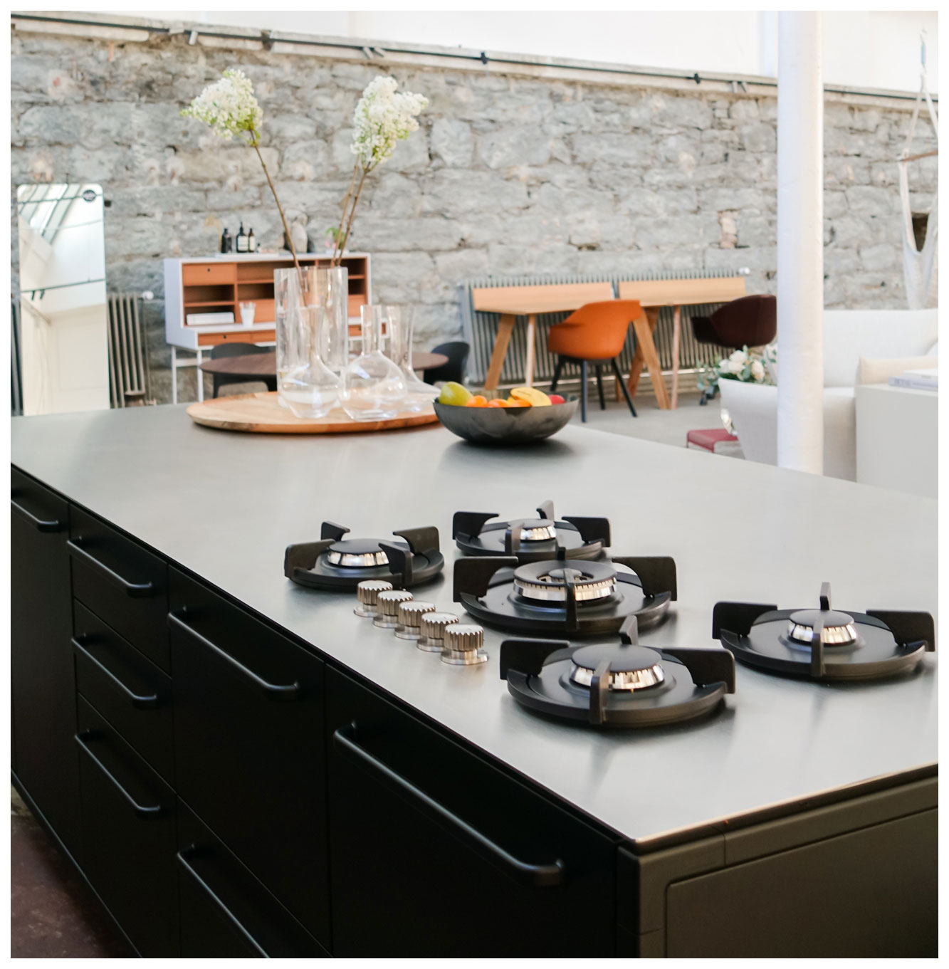 Vipp Kitchen Island with gas stove