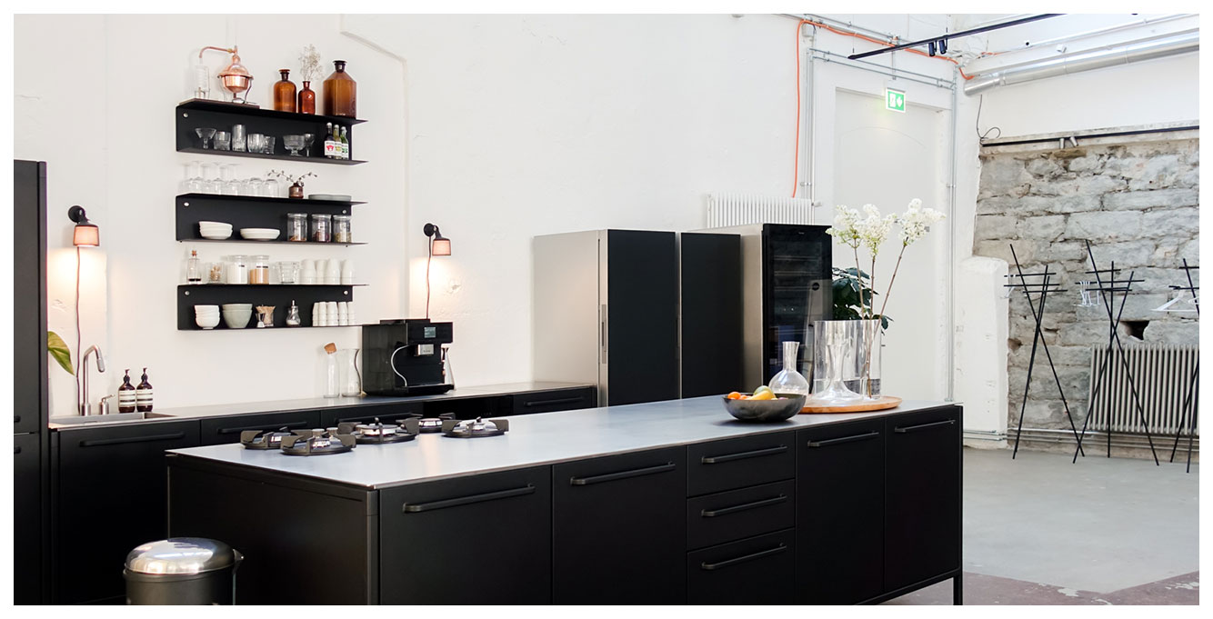 Vipp Kitchen and Miele Kitchen Appliances in coworking office