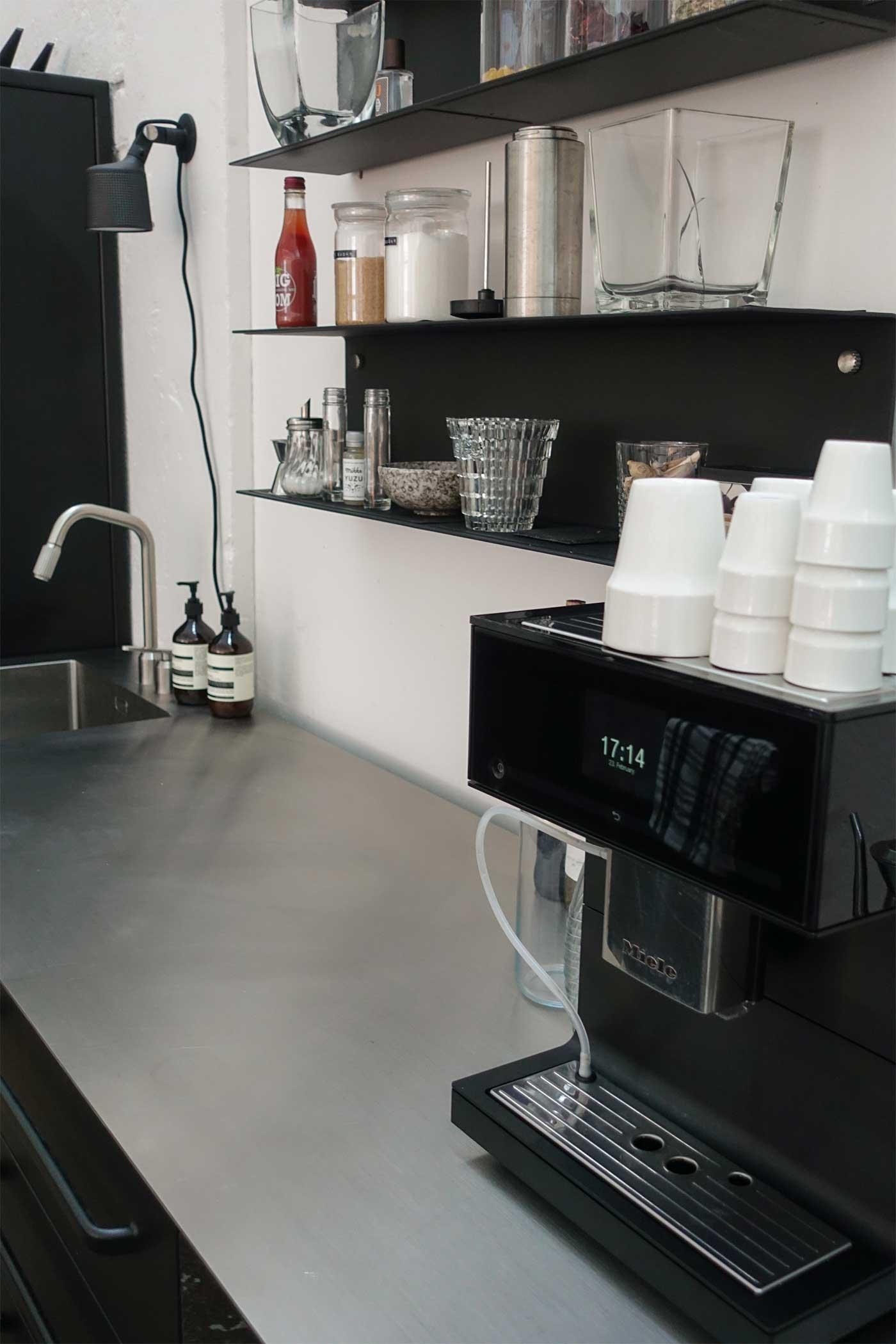 Miele Coffee Machine on Vipp Kitchen counter