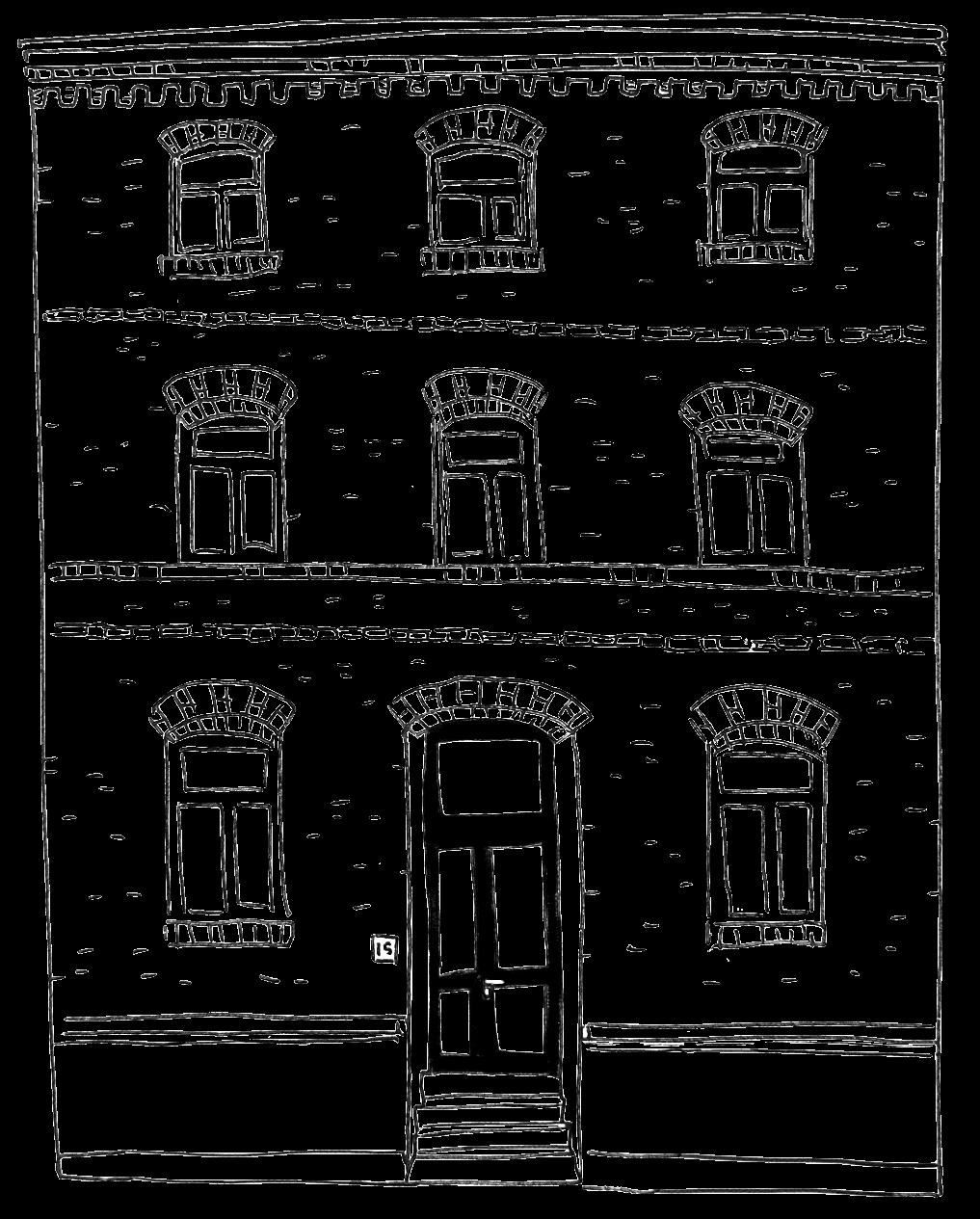 VN Residency entrance building sketch drawing