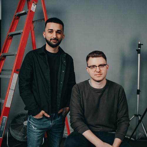 Two men posing