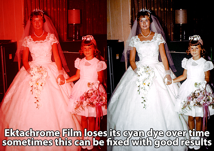 before and after Ektachrome