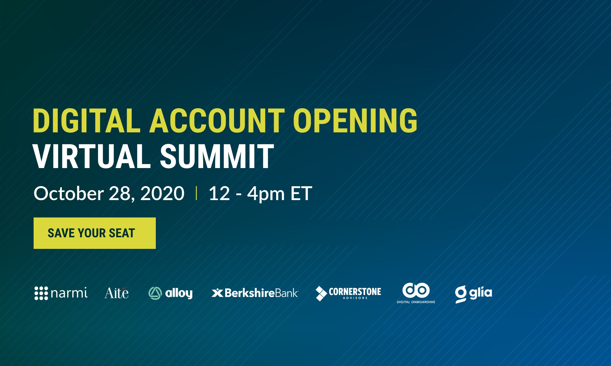 Banner for Digital Account Opening Virtual Summit