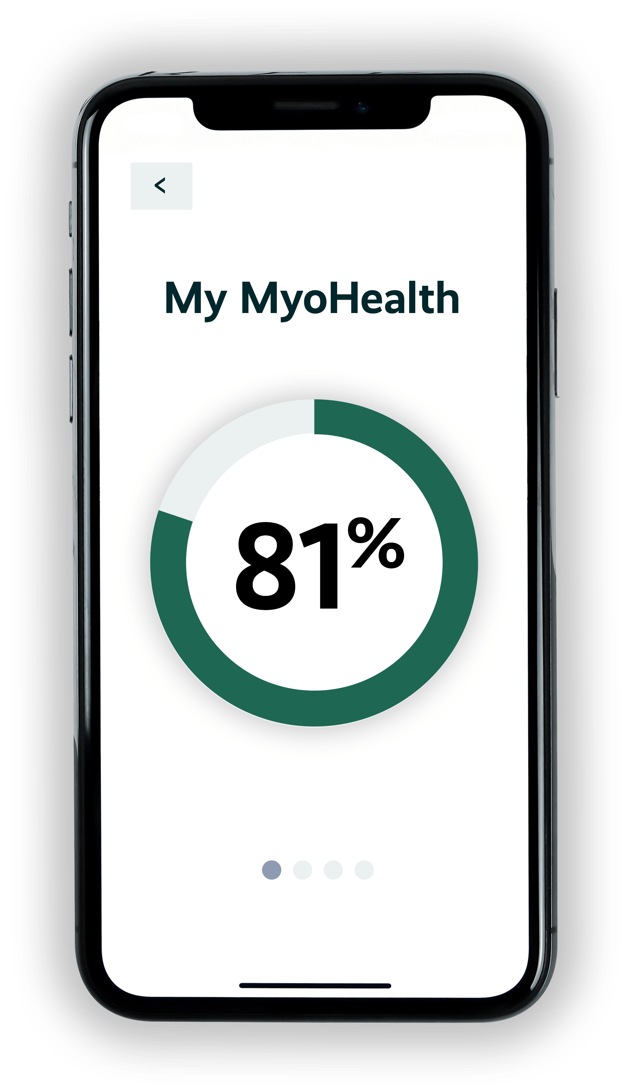 myohealth patient score on mobile phone app