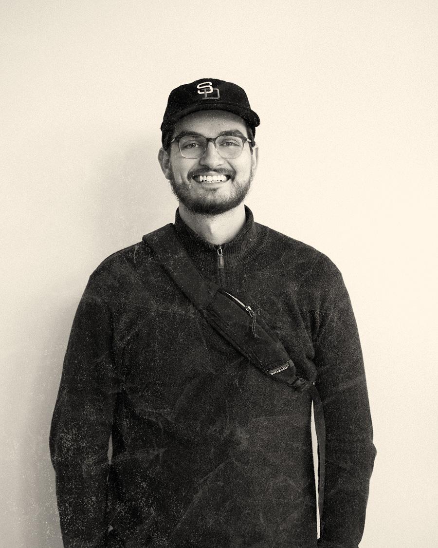 A portrait of Brandon Hampton smiling