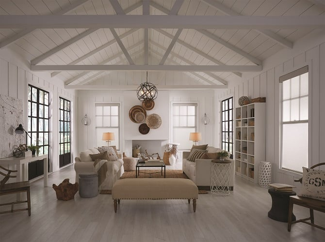 A well lit living space