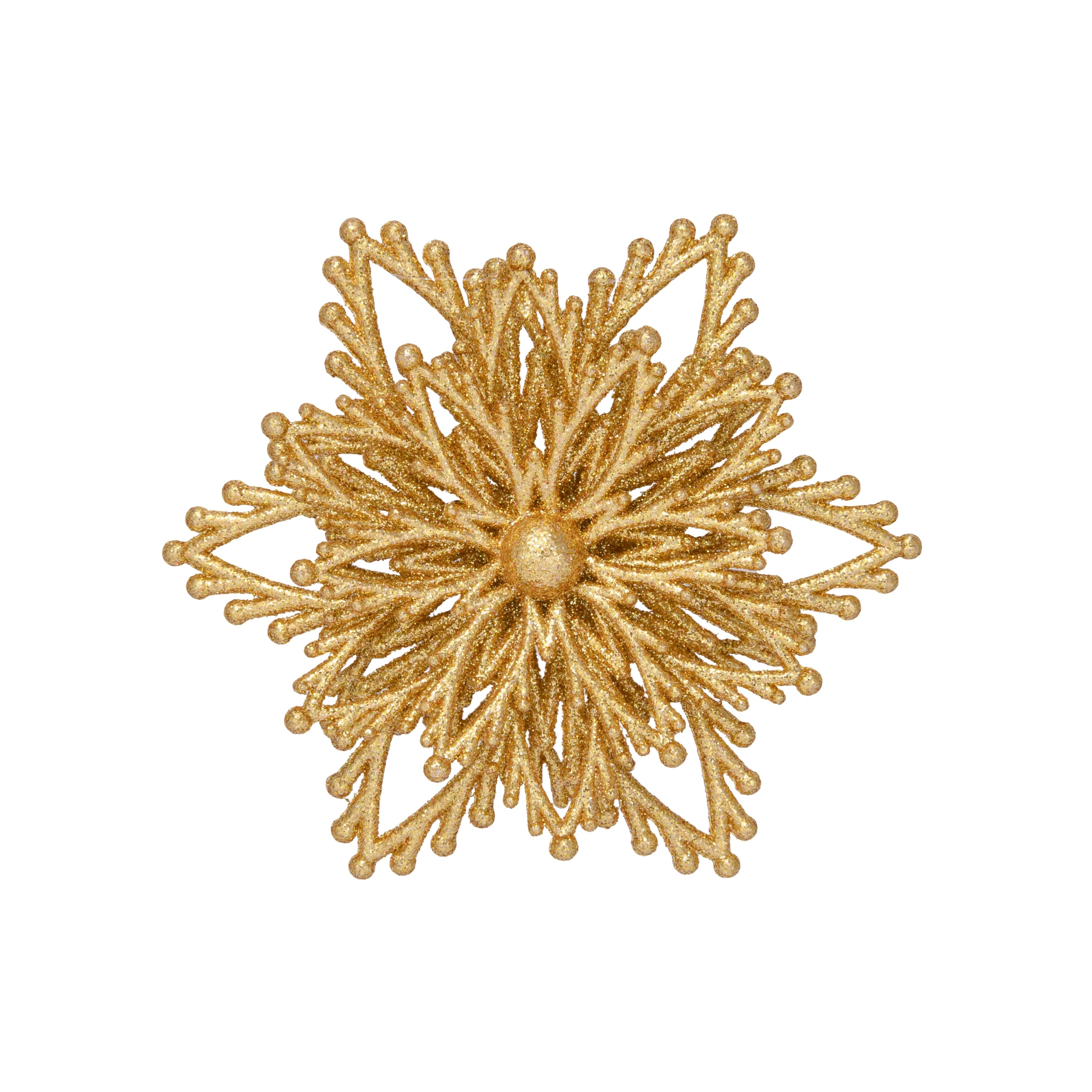 4in Glitter Gold Snowflake