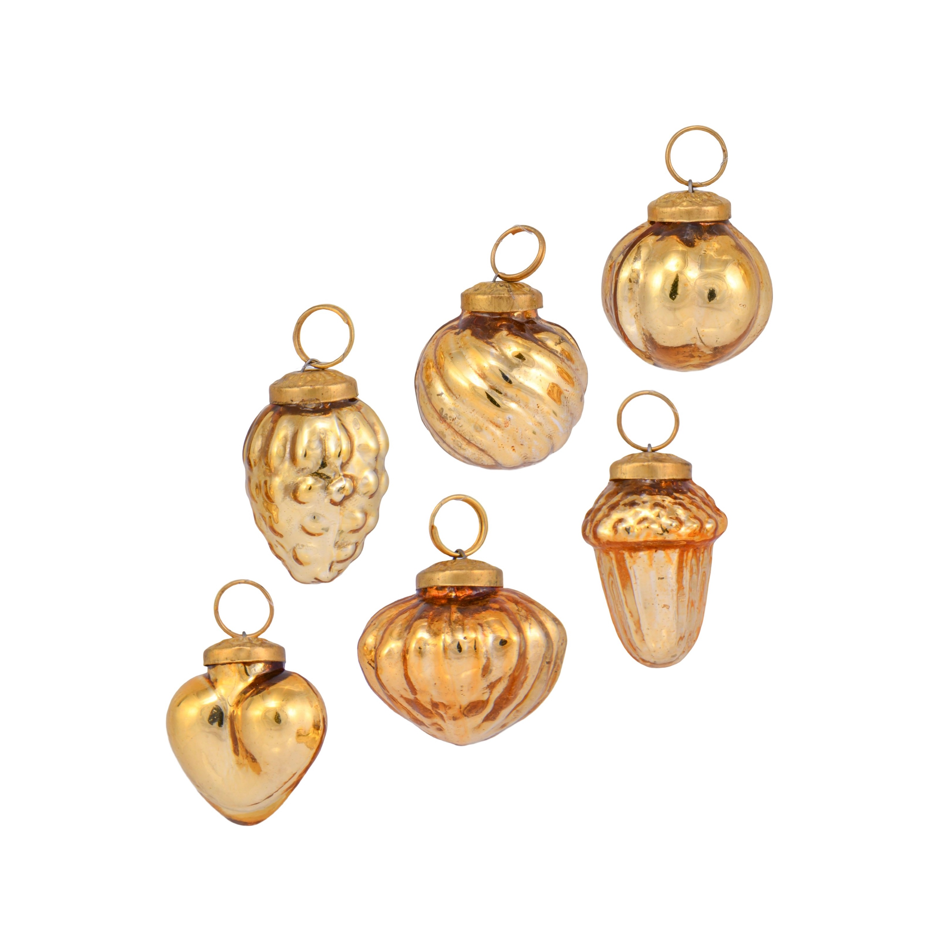 1in Mercury Gold Baubles