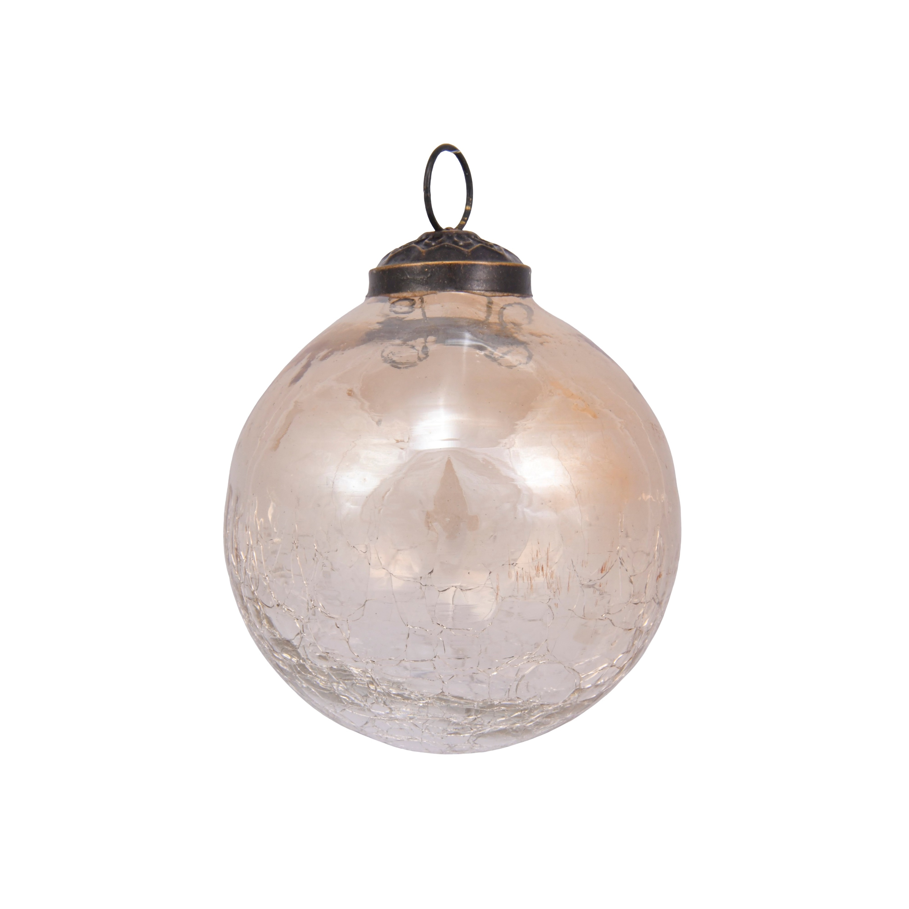 3in Crackled Glass Bauble