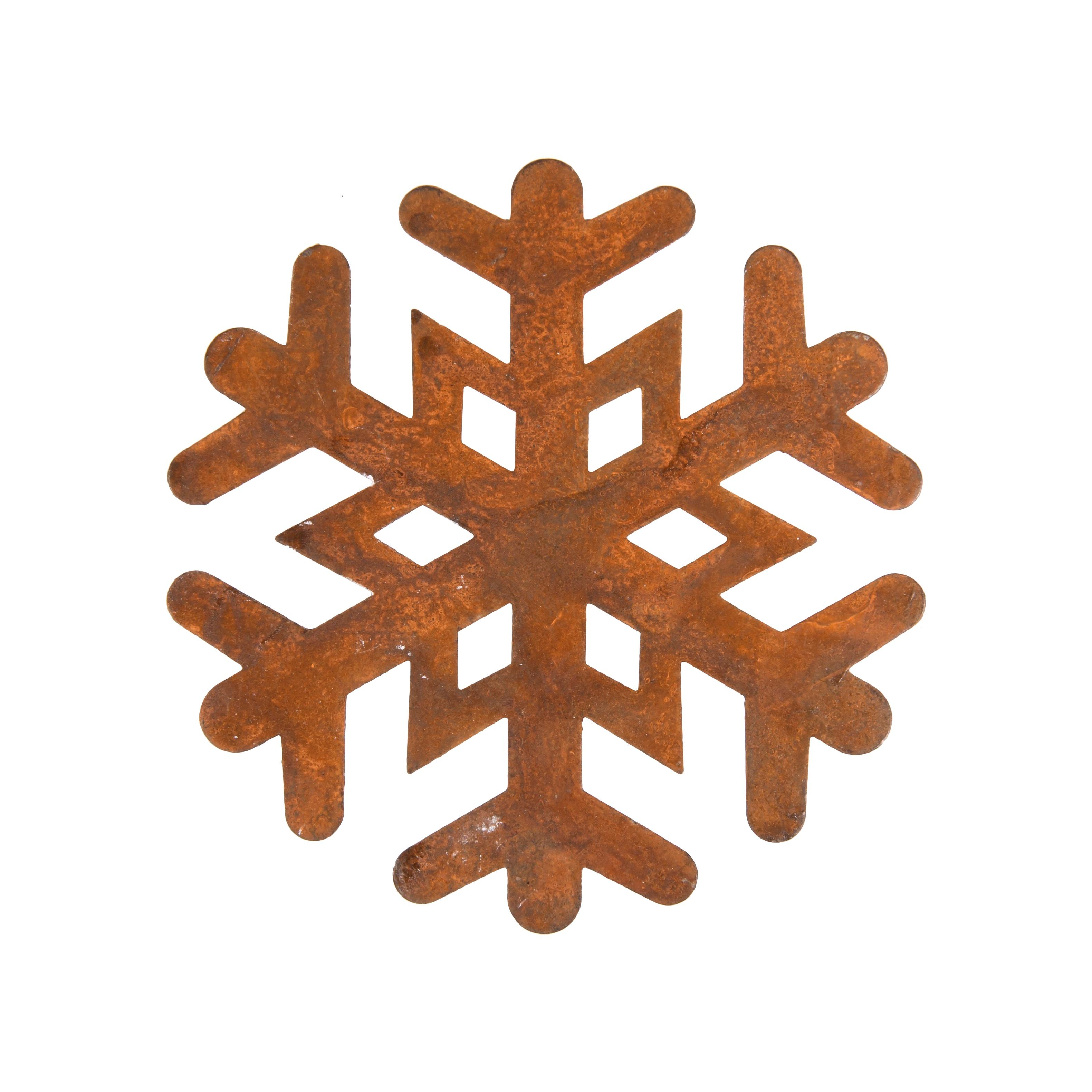 4in Copper Snowflake