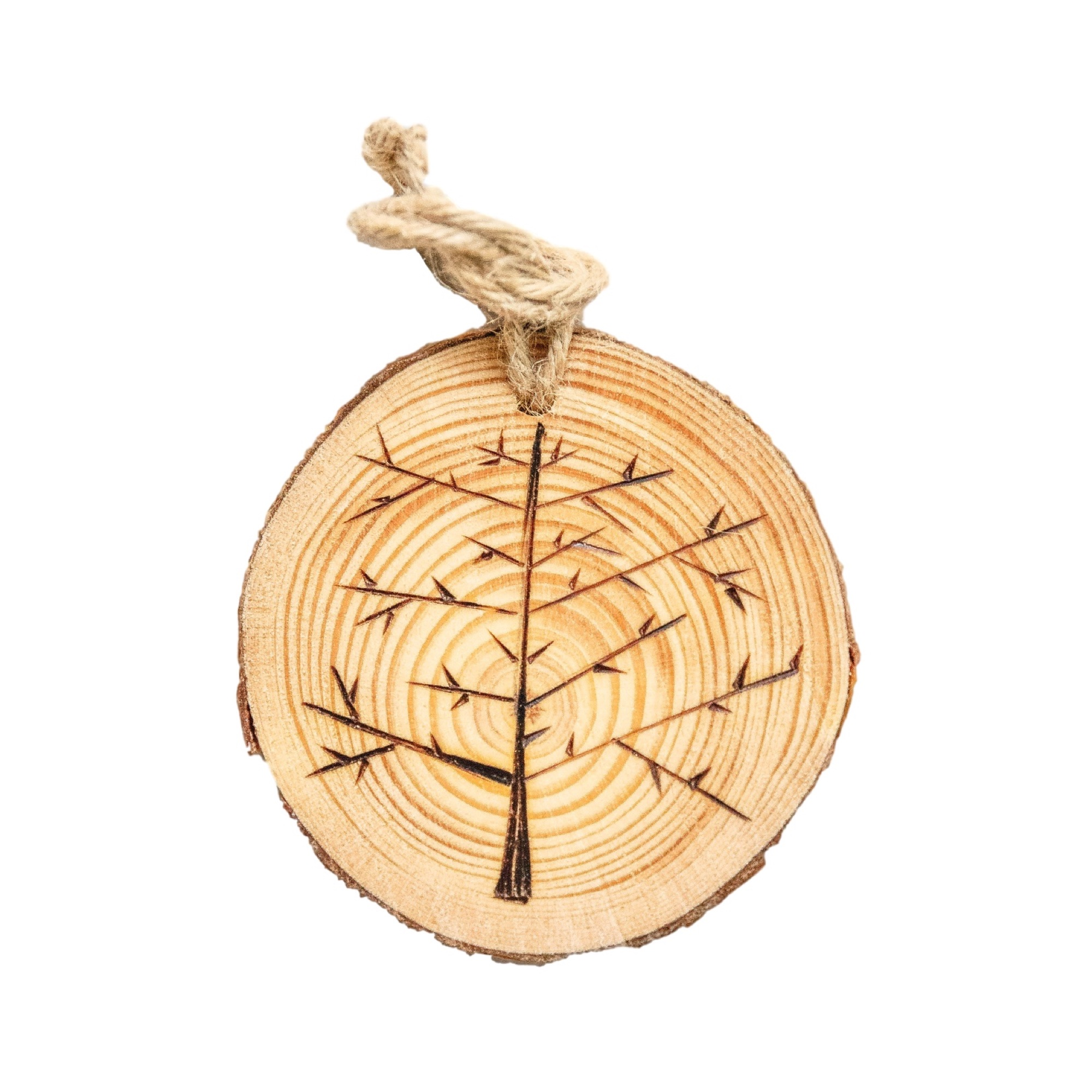 3in Branch Slice Tree Ornament