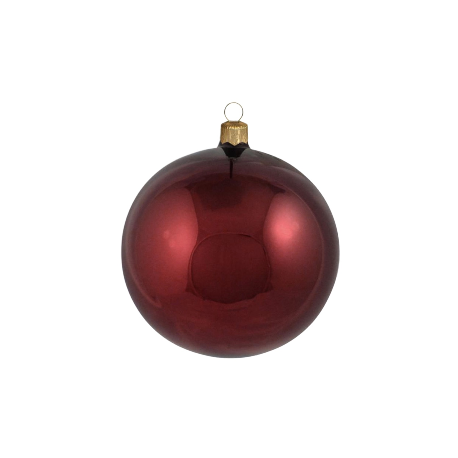 3in Shiny Red Polish Bauble