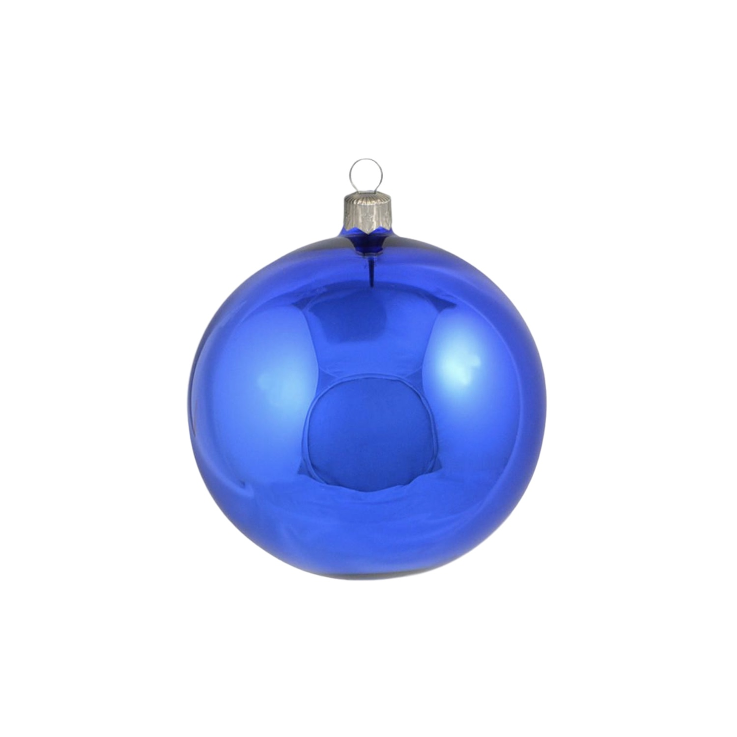 3in Shiny Blue Polish Bauble