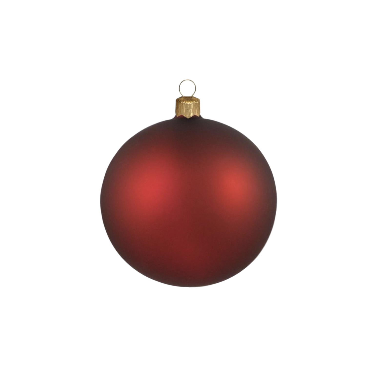 3in Matte Red Polish Bauble