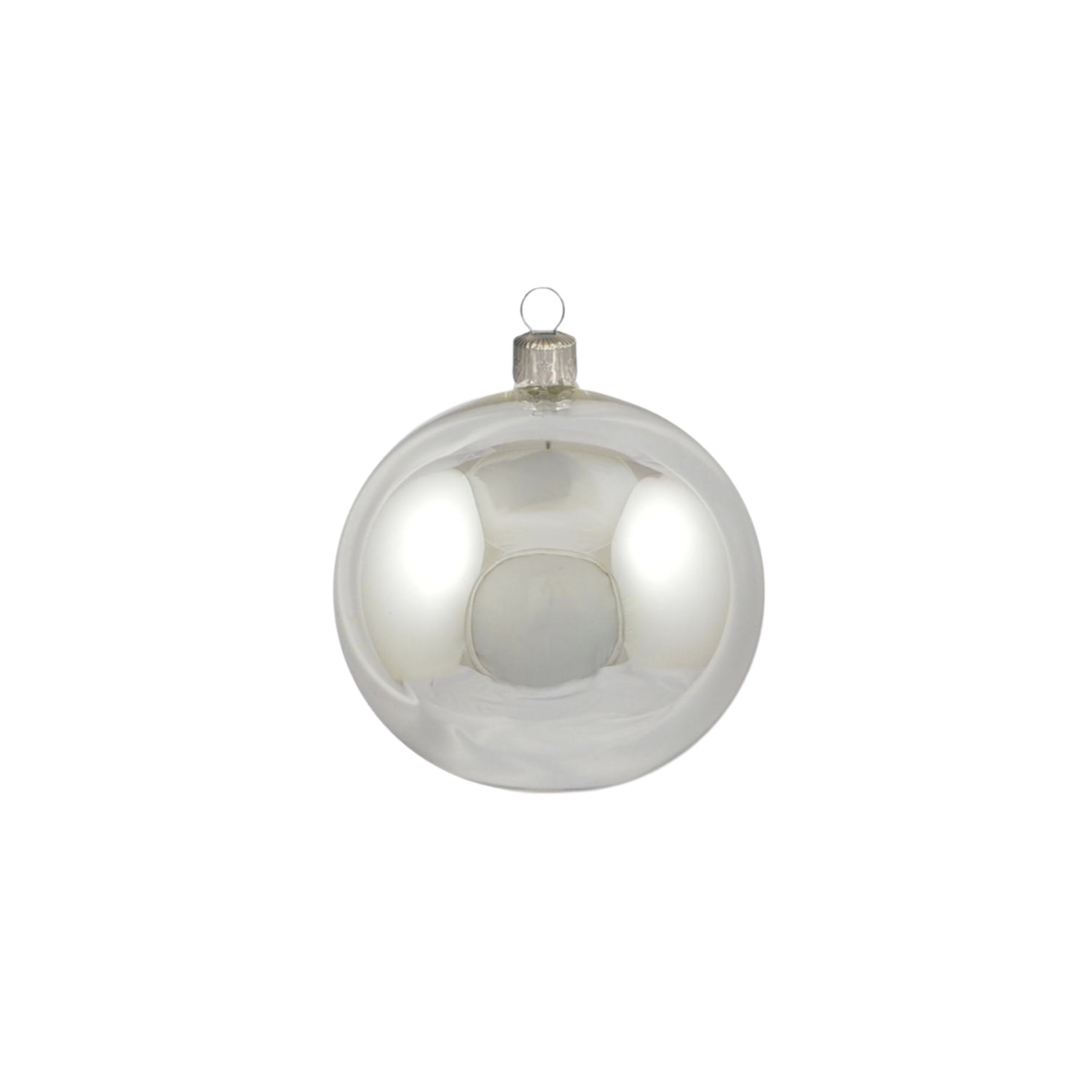 2.5in Shiny Silver Polish Bauble