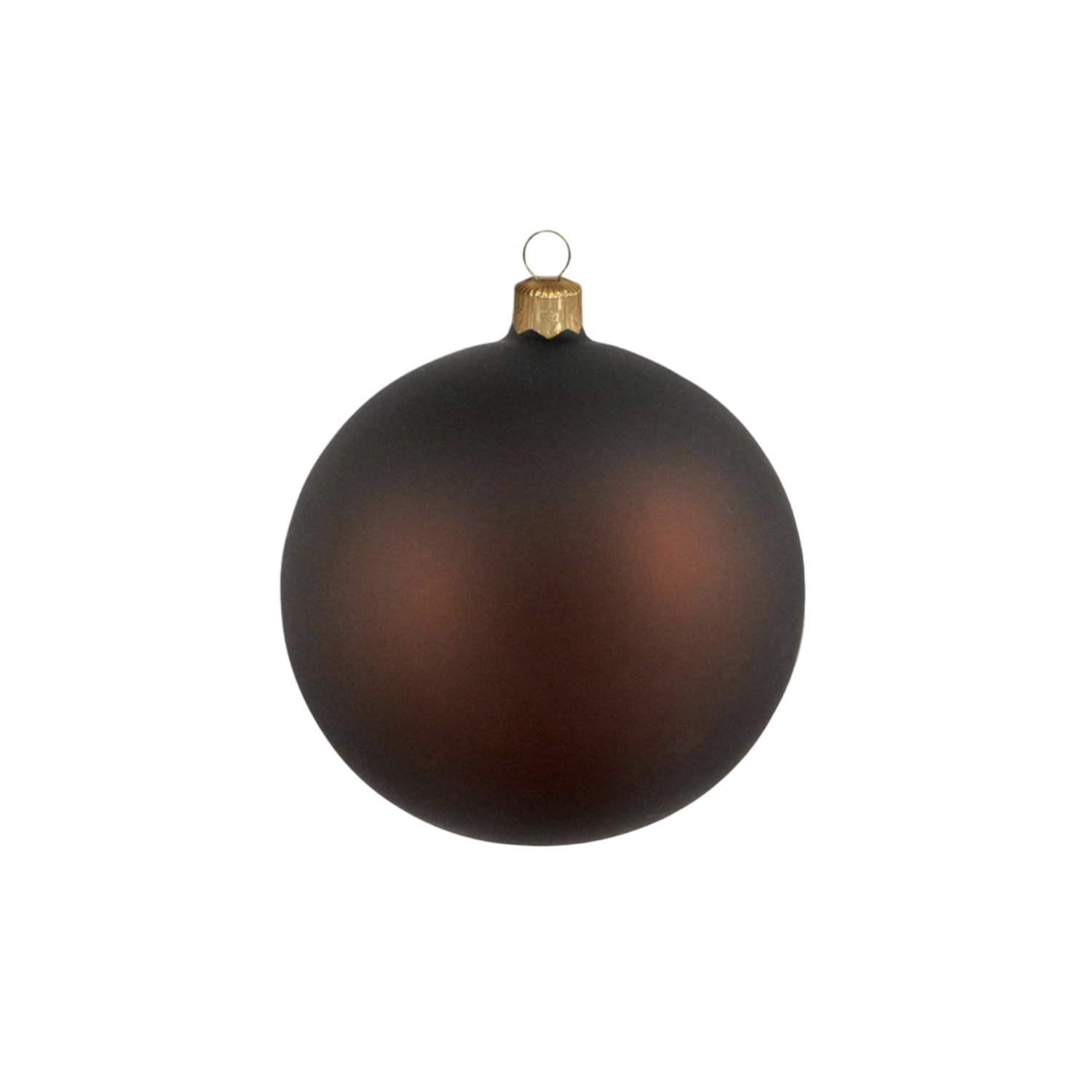 3in Matte Brown Polish Bauble