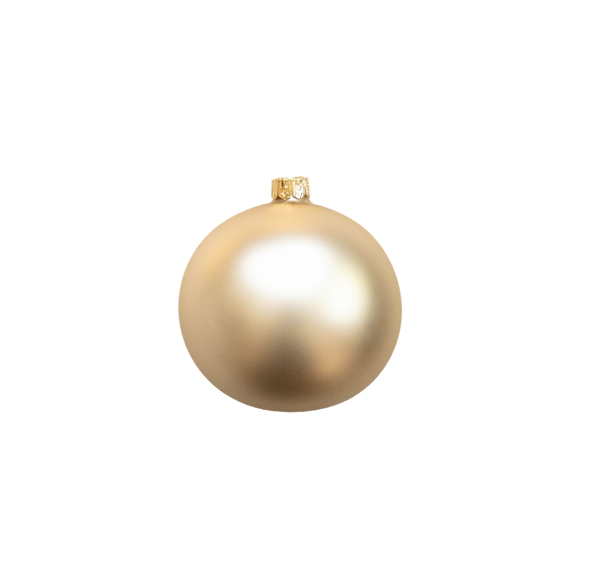 3in Matte Gold Polish Bauble