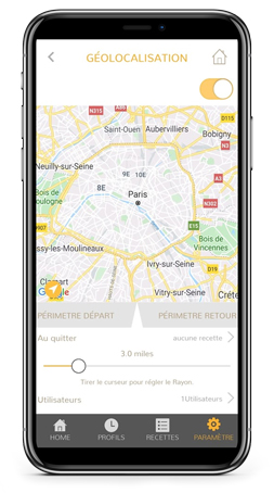 neoApp geo-location feature