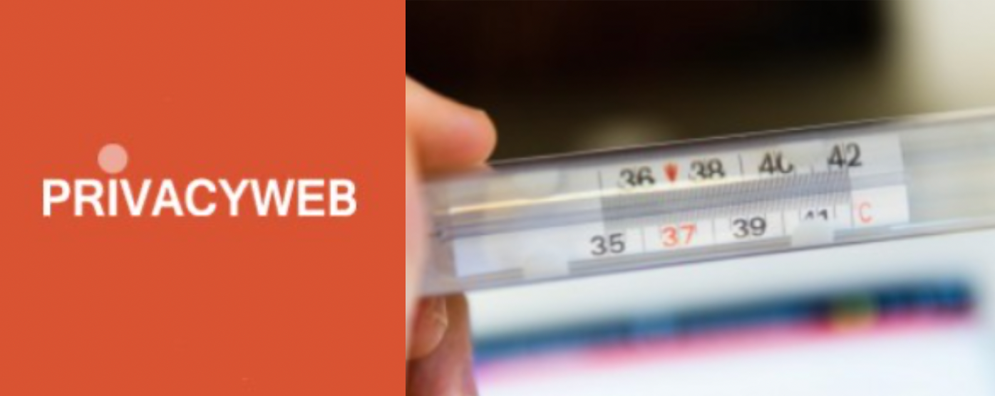 Measuring temperature with advanced digital thermometer might be subject to the GDPR