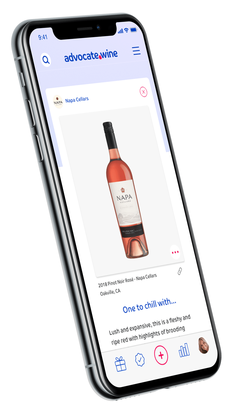 advocate.wine app left