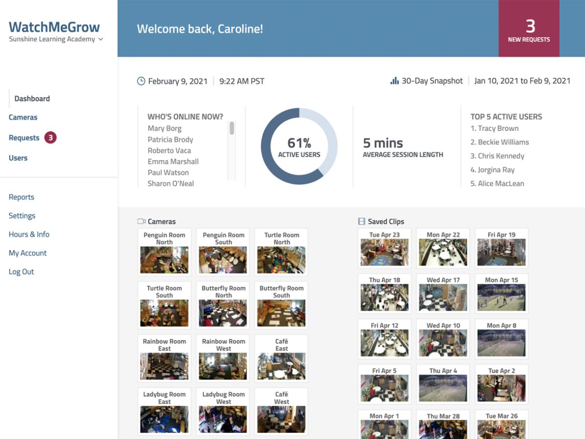 WatchMeGrow Product Screenshot