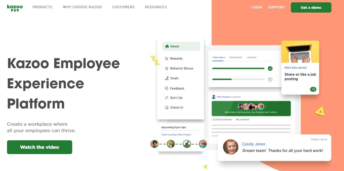 Collaborative employee engagement software