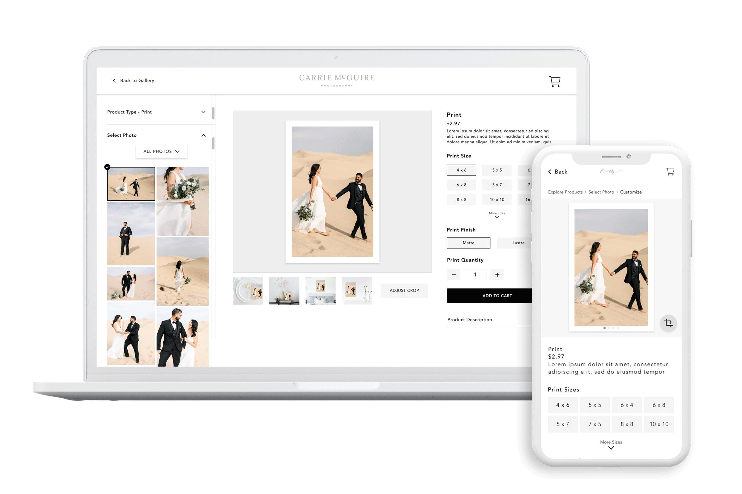 CloudSpot Store Redesign - Laptop & Phone