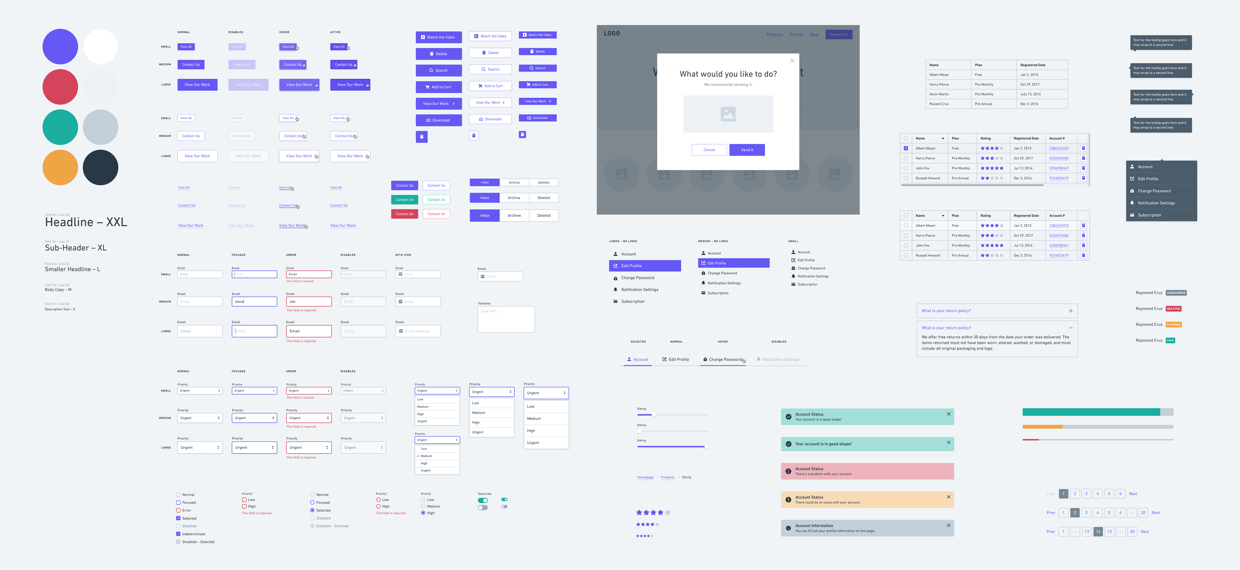 Pre-Built Design System for Wireframing